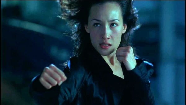 Maggie Q's about to whip much behind.